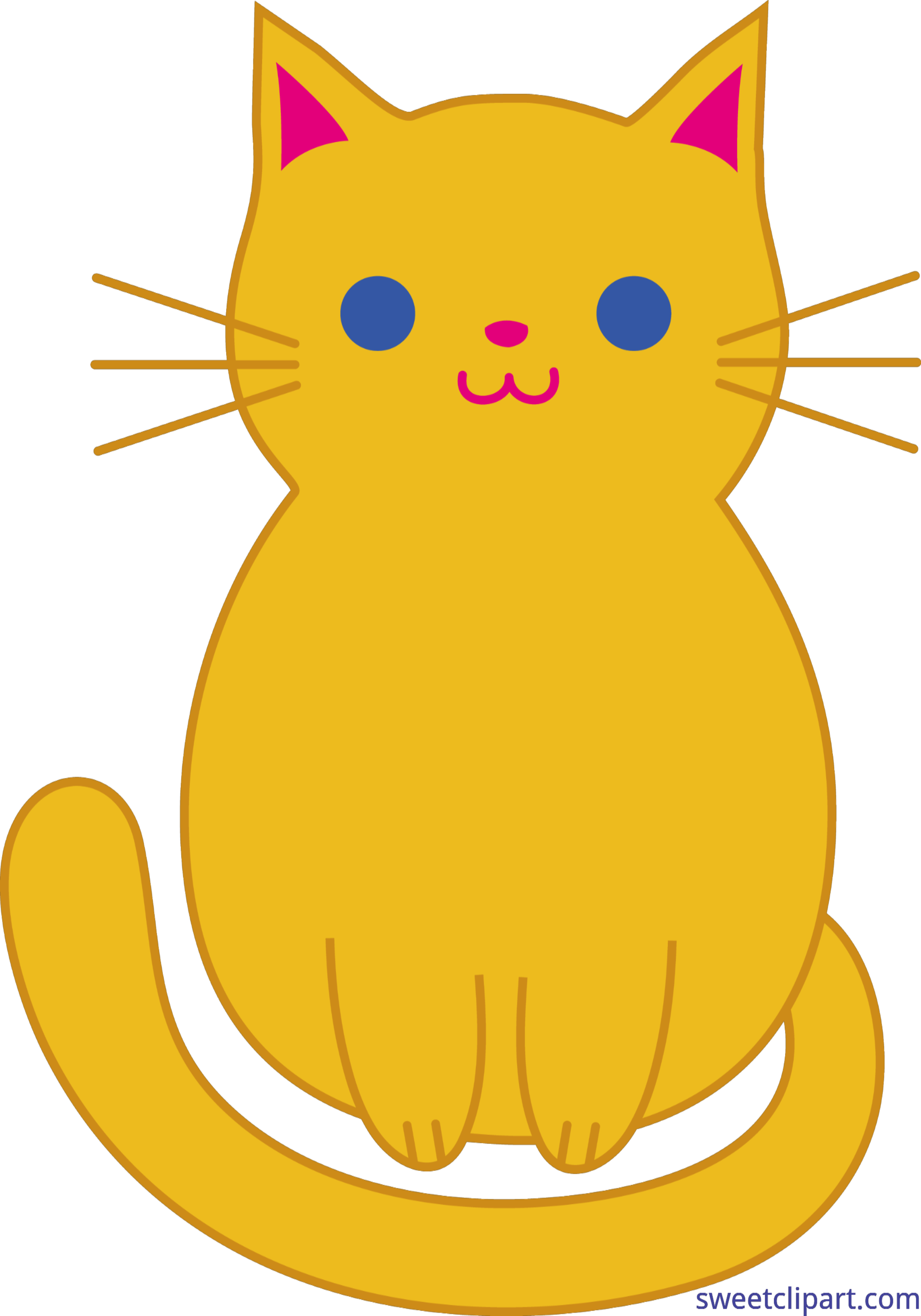3528x5039 Cat Kitten Cute Orange Clip Art