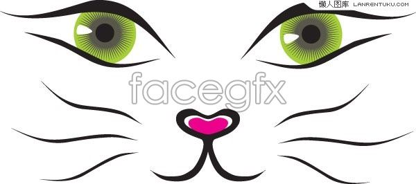 600x266 Cat Whiskers Clipart