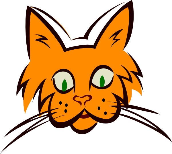 600x540 Orange Cat Face Clip Art