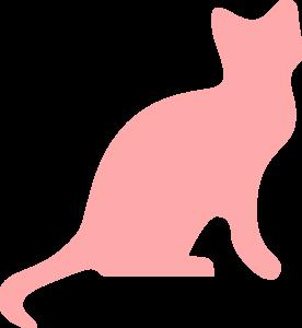 276x300 Pink Cat Silhouette Clip Art
