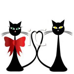 300x300 Two Cats Clip Art Black And White