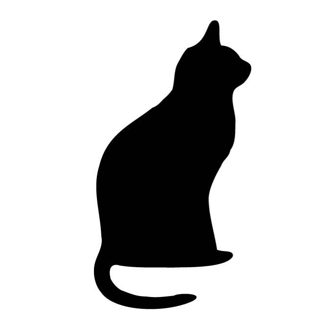 660x660 Cat Outline Clip Art