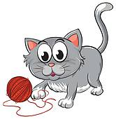 166x170 Cat Playing Clip Art Cliparts