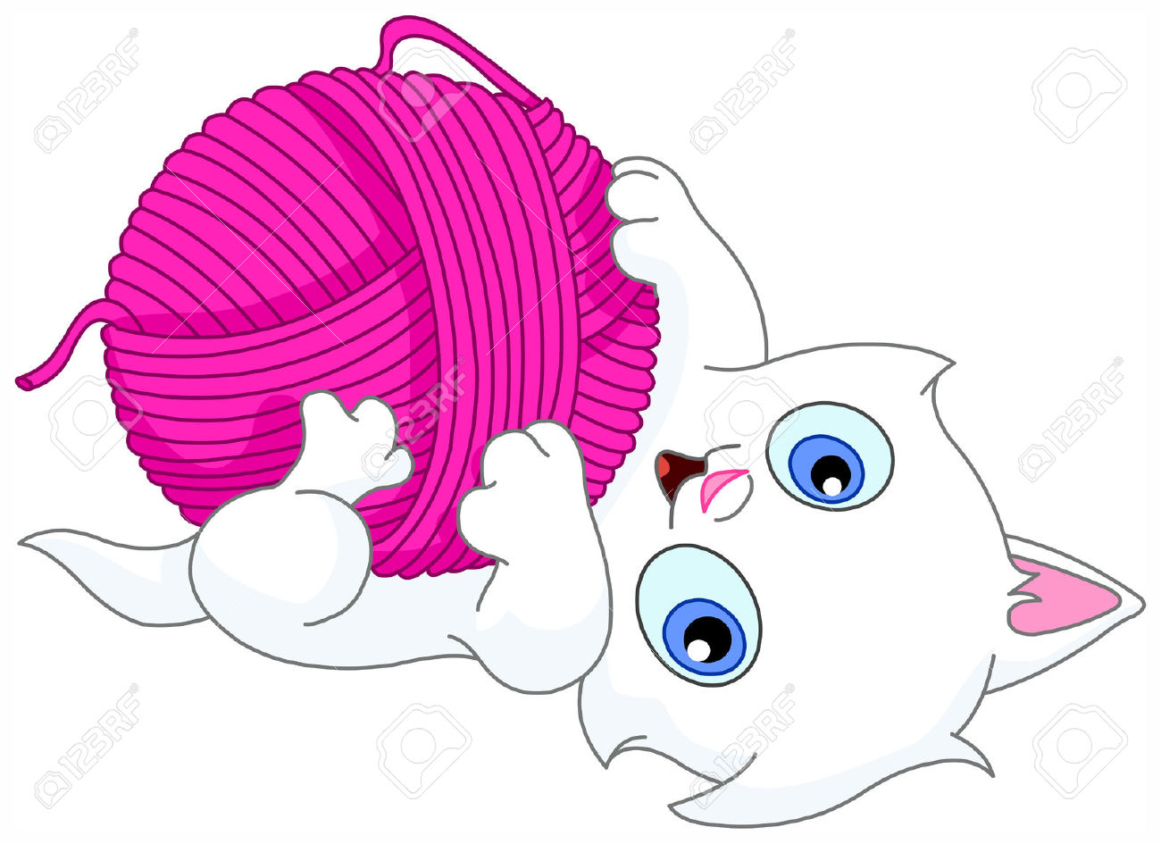 1300x945 Kitten Playing With Yarn Clipart Amp Kitten Playing With Yarn Clip