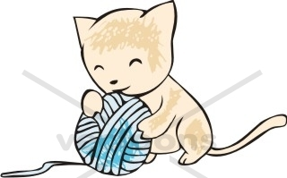 320x199 Kitten Playing With Ball Of Yarn