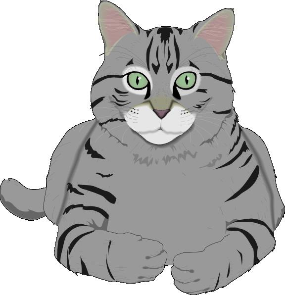 576x596 Totetude Gray Cat Clip Art