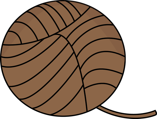 500x379 Brown Ball Of Yarn Clip Art