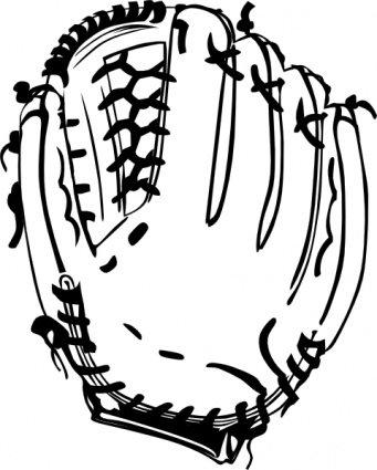 341x425 Baseball Glove Clip Art, Vector Baseball Glove