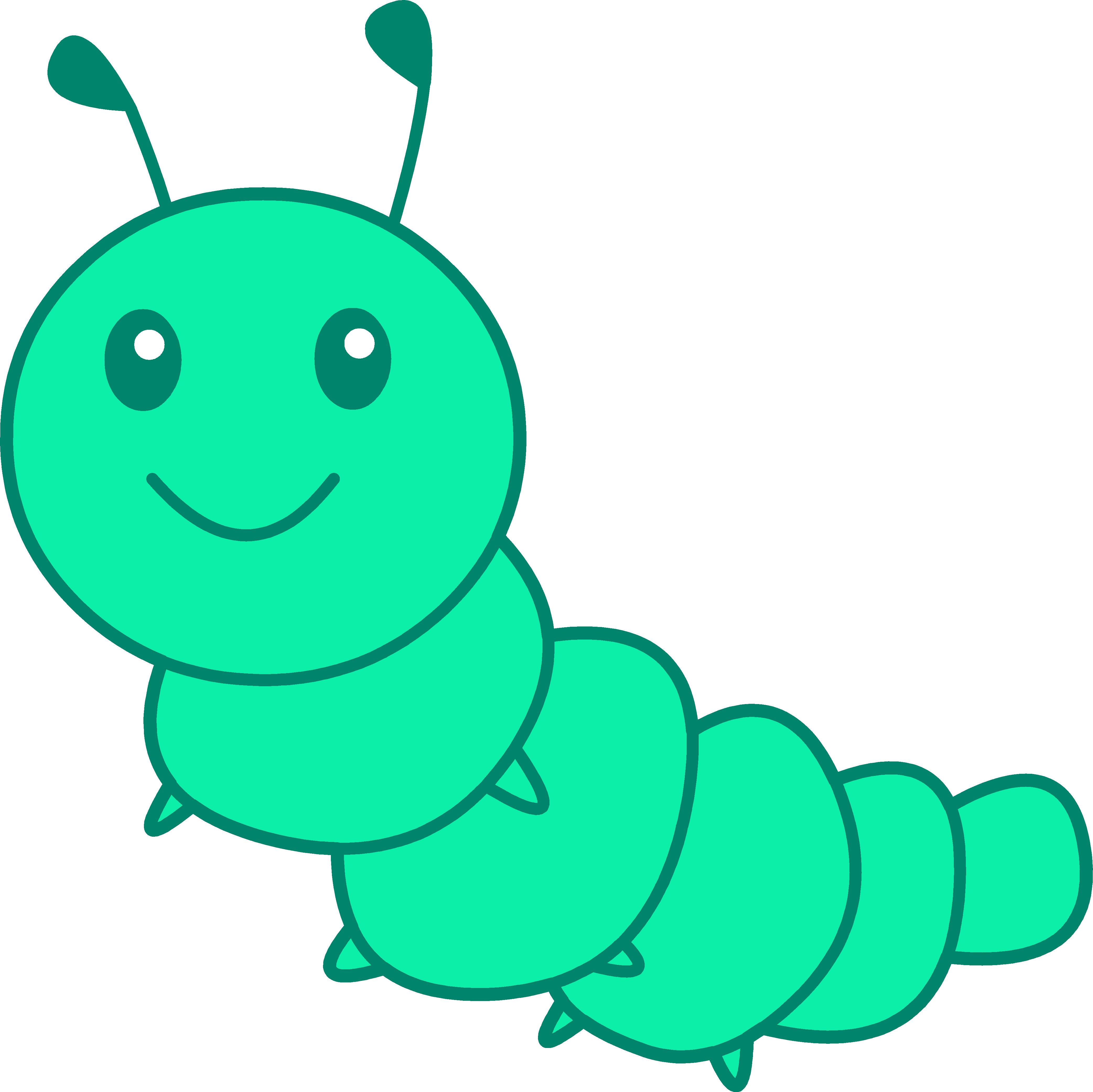4169x4166 Inchworm Clipart Caterpillar Butterfly