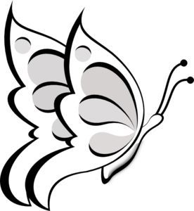 276x300 39 Best Blank Butterfly Outline Tattoo Images