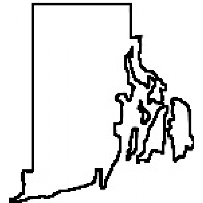 700x700 State Of Rhode Island Outline Map Rubber Stamp