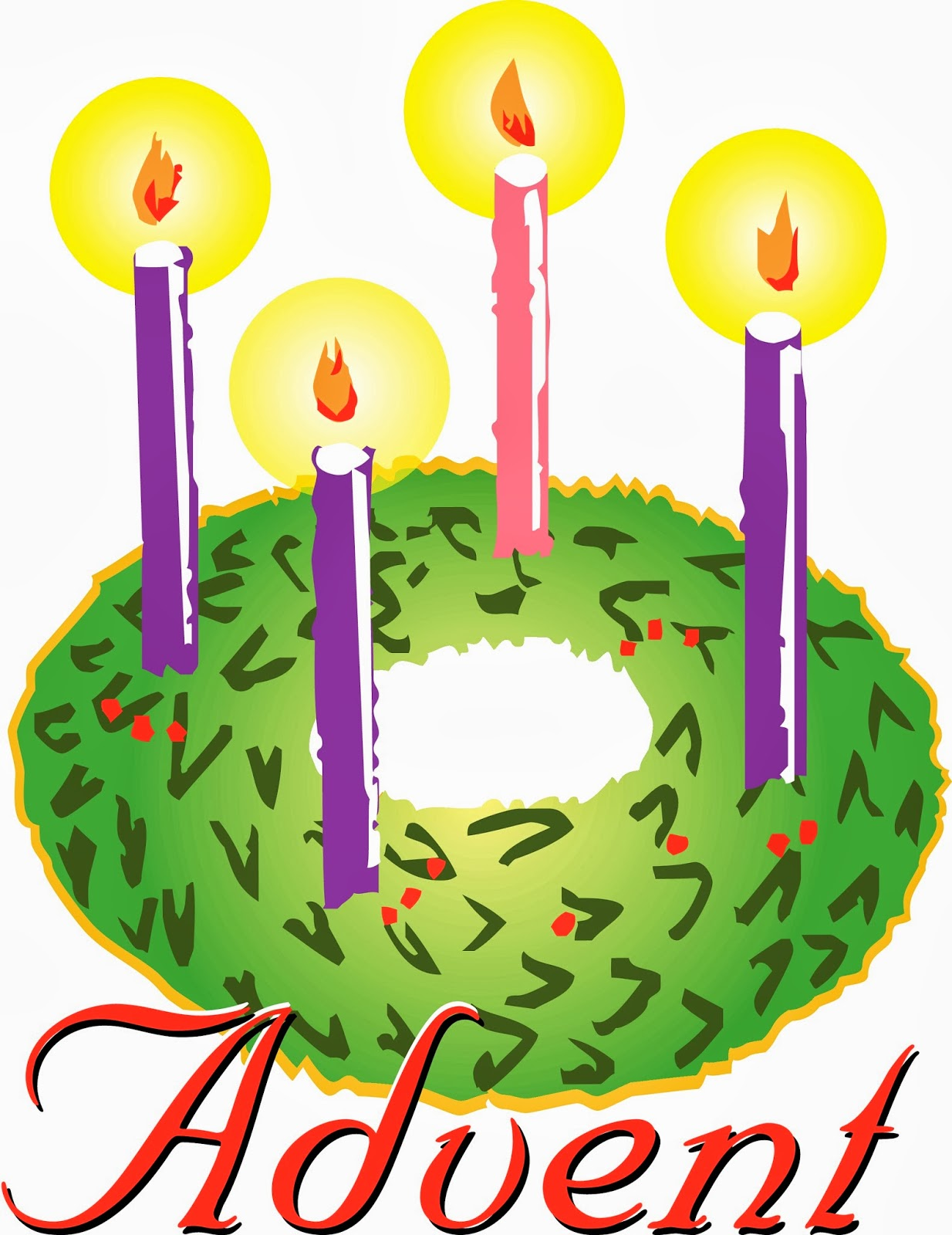 1234x1600 Clip Art Advent Wreat Clipart