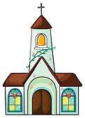122x170 Catholic Church Clip Art