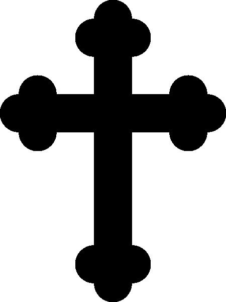 450x600 Black Cross Clip Art