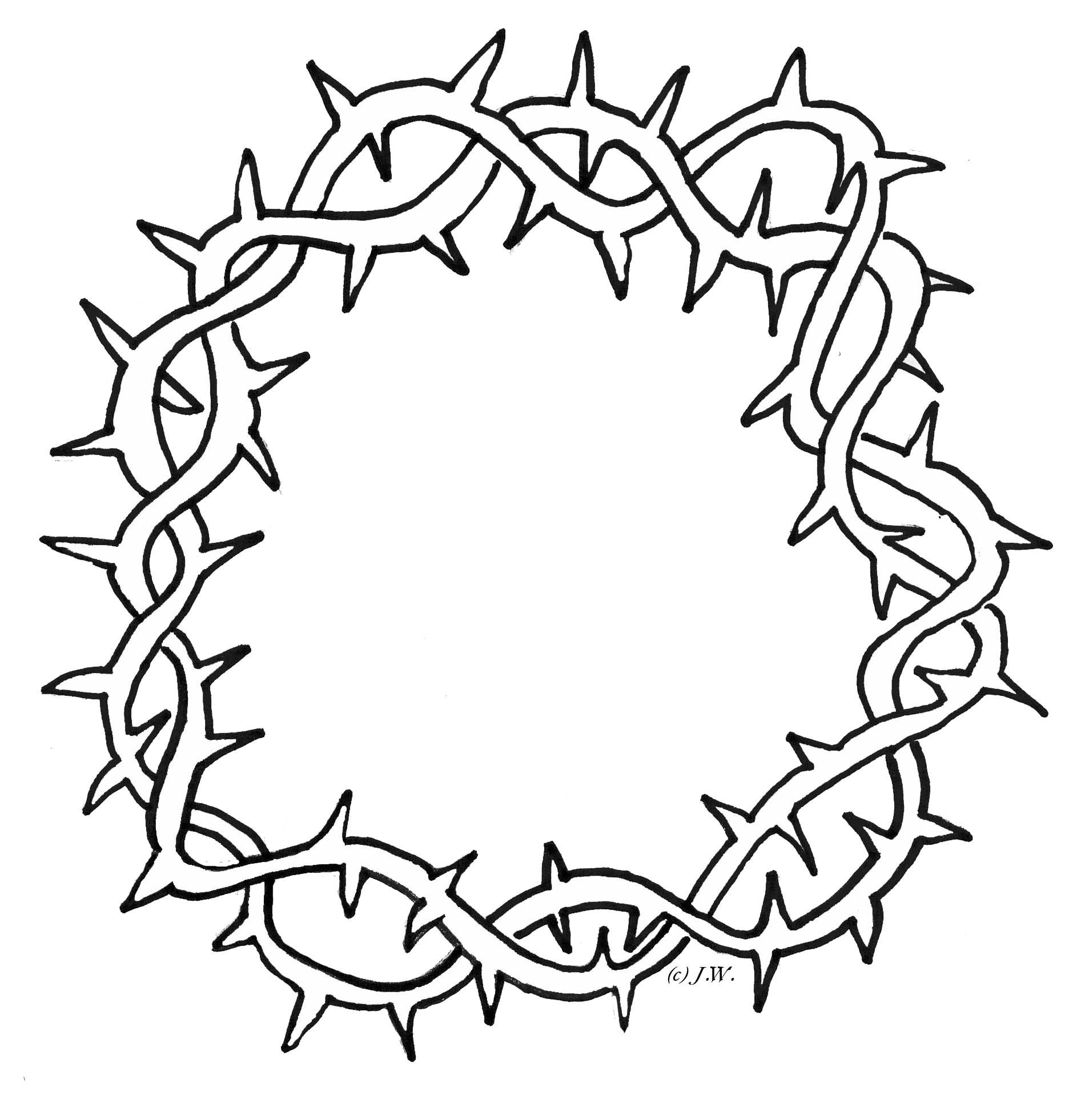 1900x1962 Crown Of Thorns Drawing Crown Of Thorns Clipart