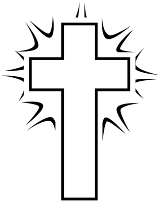 Cross outline kids. Catholic clipart free download