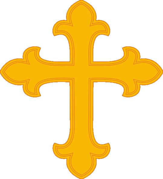540x594 Gold Cross Clipart
