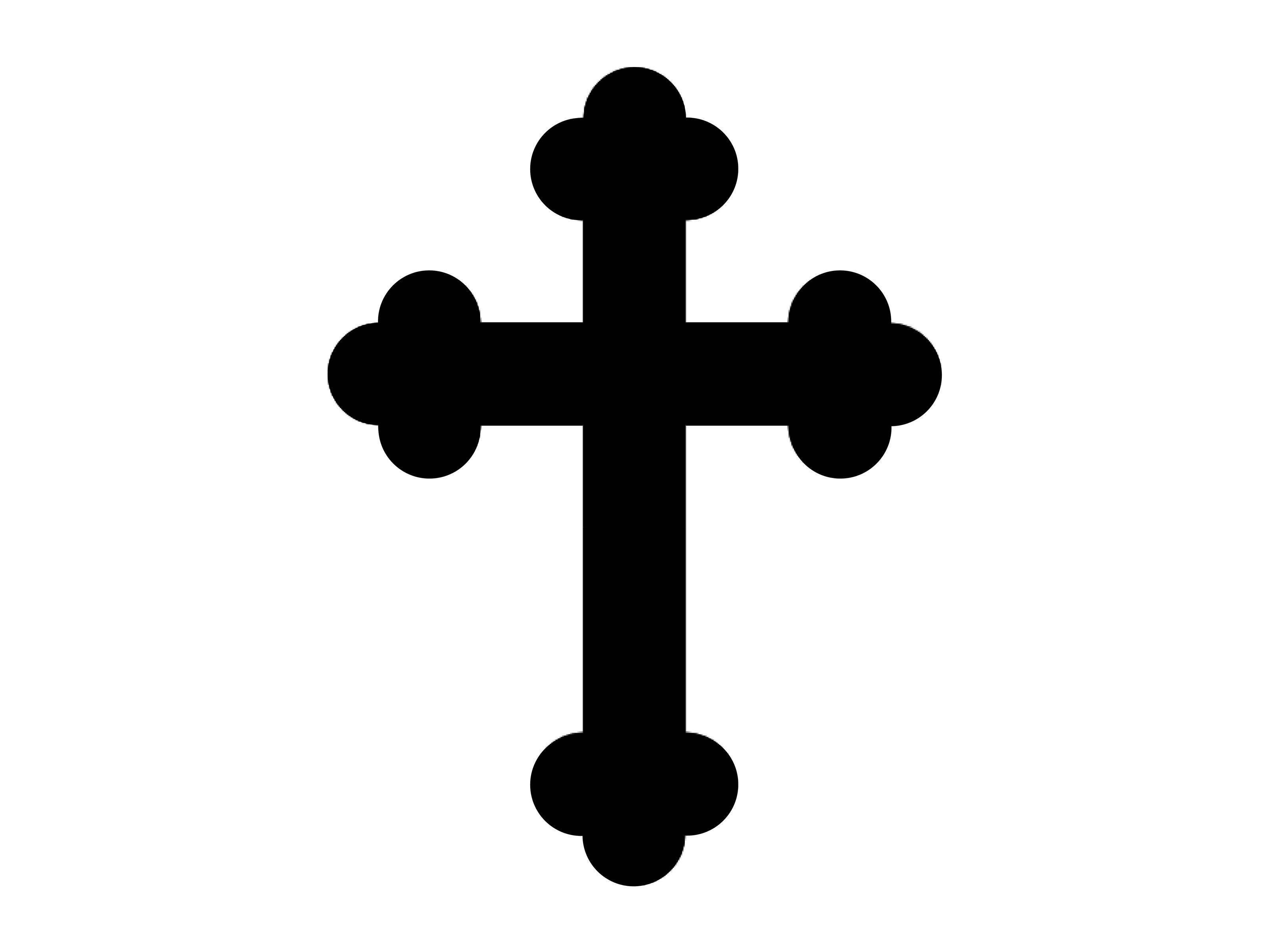 3200x2400 White Catholic Cross Clipart