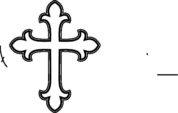 600x382 White Cross Clip Art