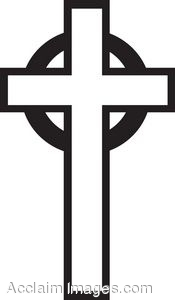 175x300 Clip Art Picture Of A Black And White Cross