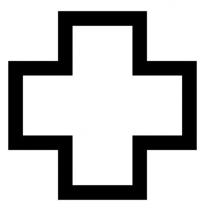 413x425 Cross Outline Clip Art Clipart