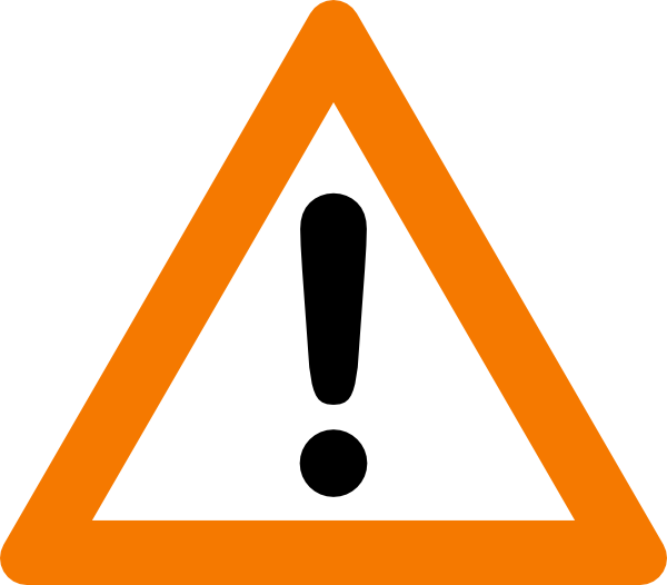 600x526 Caution Sign Warning Yield Sign Clip Art