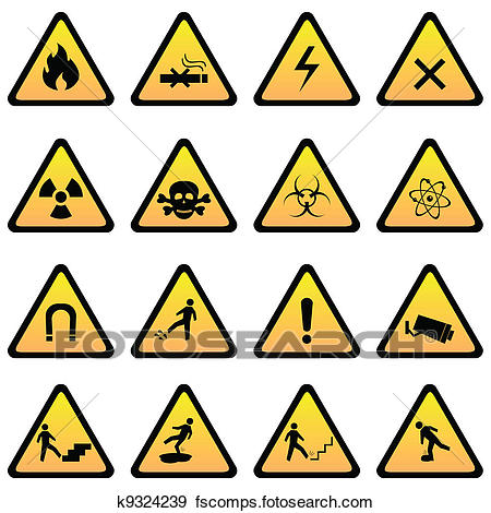 450x470 Clip Art Of Warning And Danger Signs K9324239