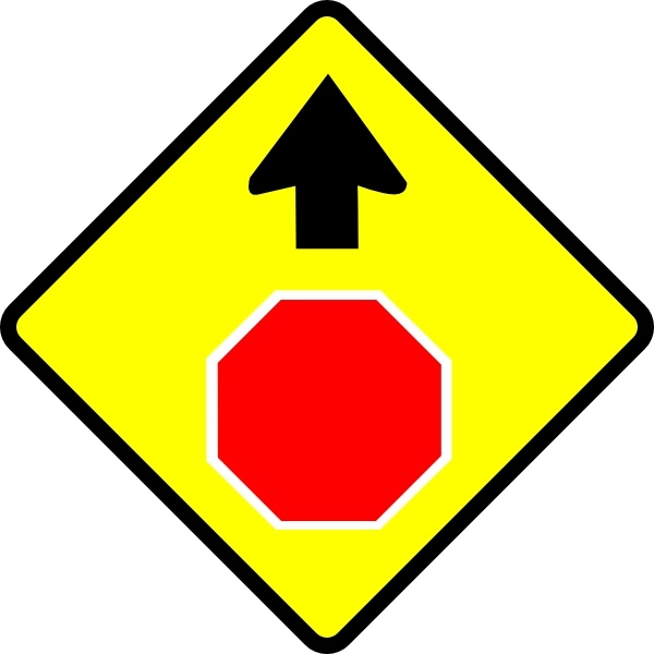 600x600 Leomarc Caution Stop Sign Clip Art Free Vector In Open Office