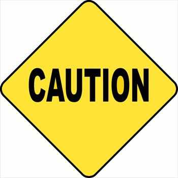 350x350 Caution Sign Clip Art