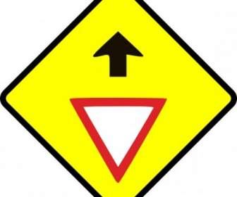 336x280 Caution T Junction Road Sign Clip Art Vector Clip Art Free Vector