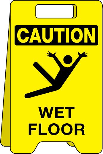 347x517 Floor Sign Caution Wet Floor