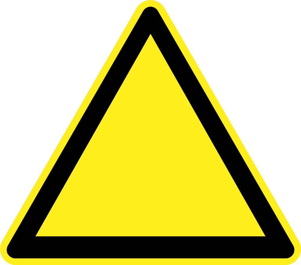 Caution signage template