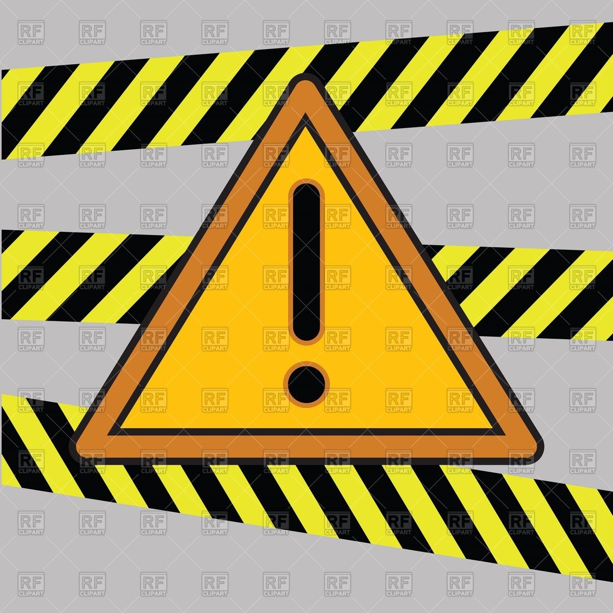 1200x1200 Caution Tapes, Strips And Warning Line Royalty Free Vector Clip