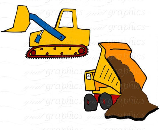 570x455 Construction Clipart Truck Clip Art Kids Digital Clip Art