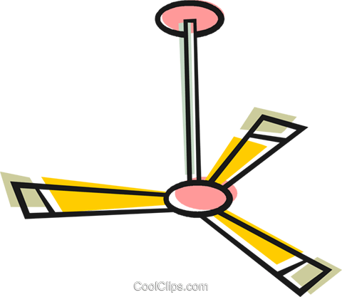 480x417 Ceiling Fan Royalty Free Vector Clip Art Illustration Vc048565