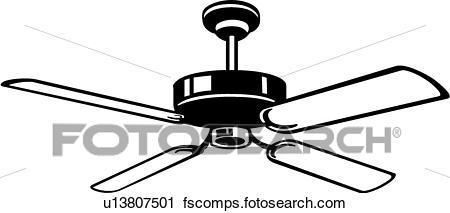 450x213 Clipart Of Ceiling Fan U13807501