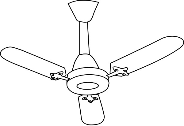 600x412 Fan Clipart Black And White Letters
