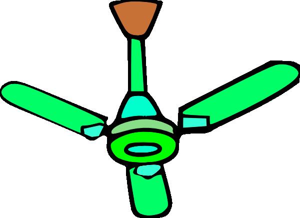 600x436 Green Ceiling Fan Clip Art