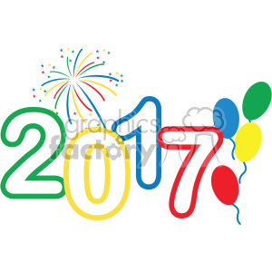 300x300 Royalty Free 2017 Celebration Vector Art 400593 Vector Clip Art