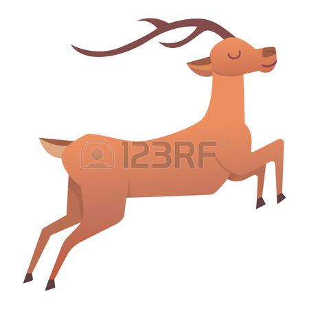 450x450 Cute Deer Cartoon Comic Wild Vector Character. Vector Wild Mammal