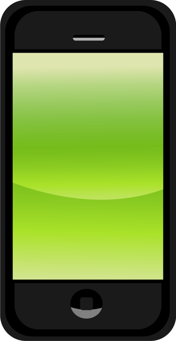 600x1160 Green Clipart Cell Phone