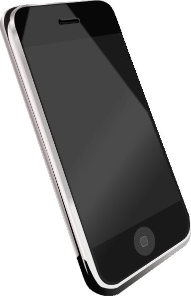 384x595 Modern Cell Phone Clip Art