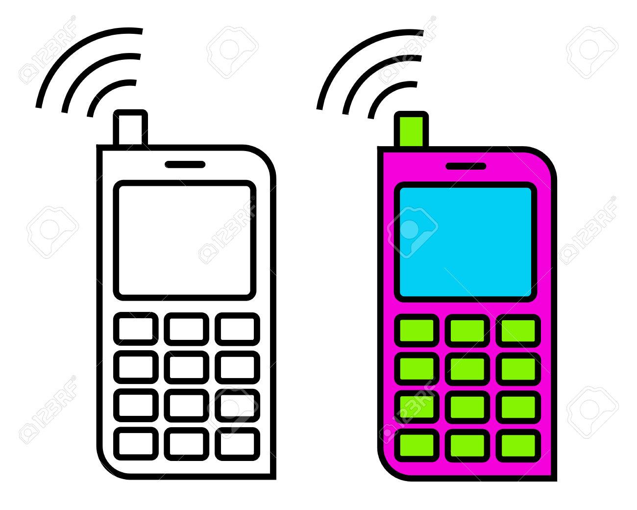 1300x1040 Phone Clipart Simple