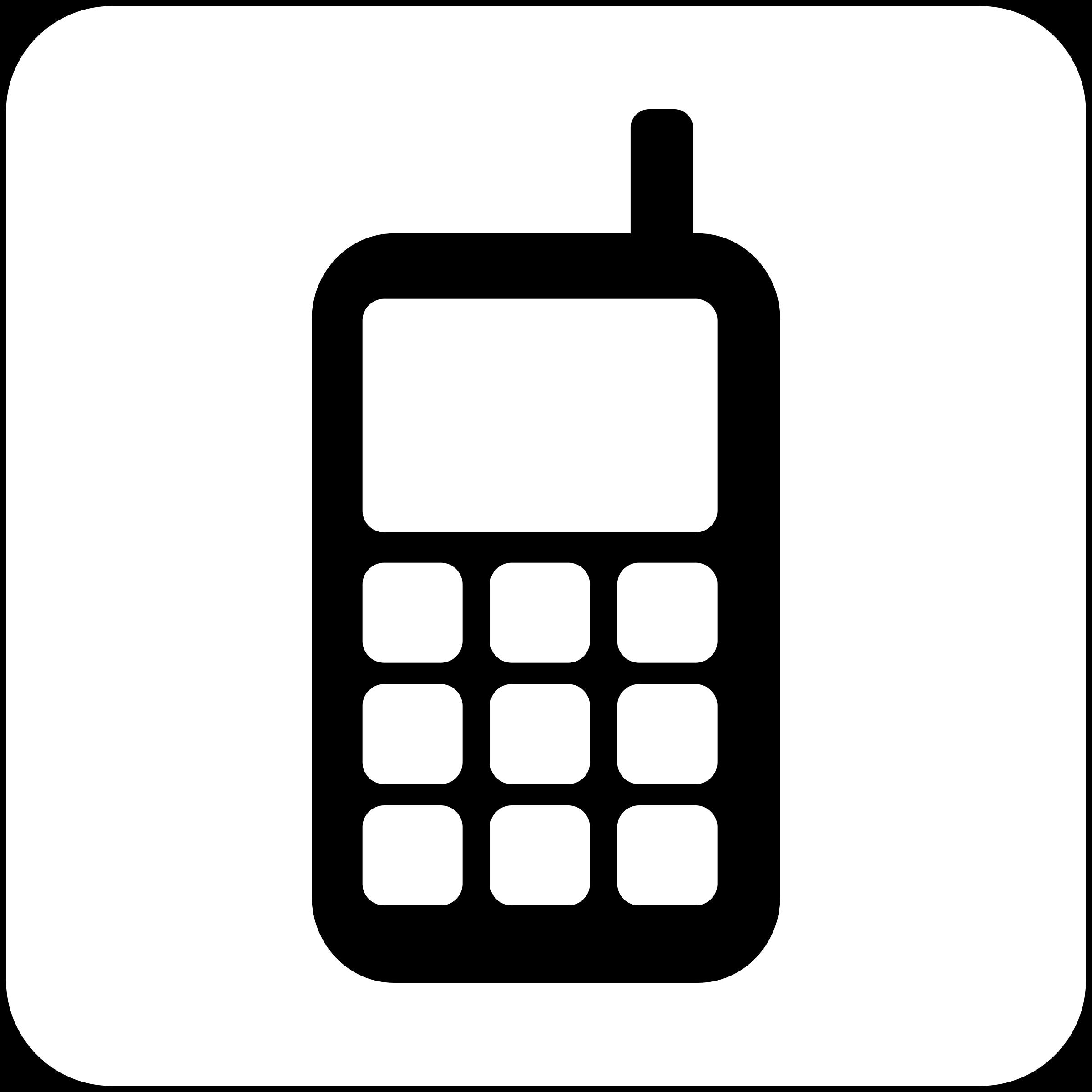 2400x2400 Cellphone Clip Art