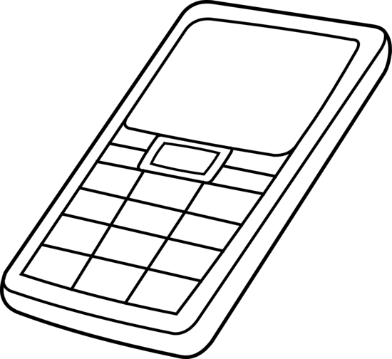 550x504 Cell Phone Clipart Black And White Free Clipart 2