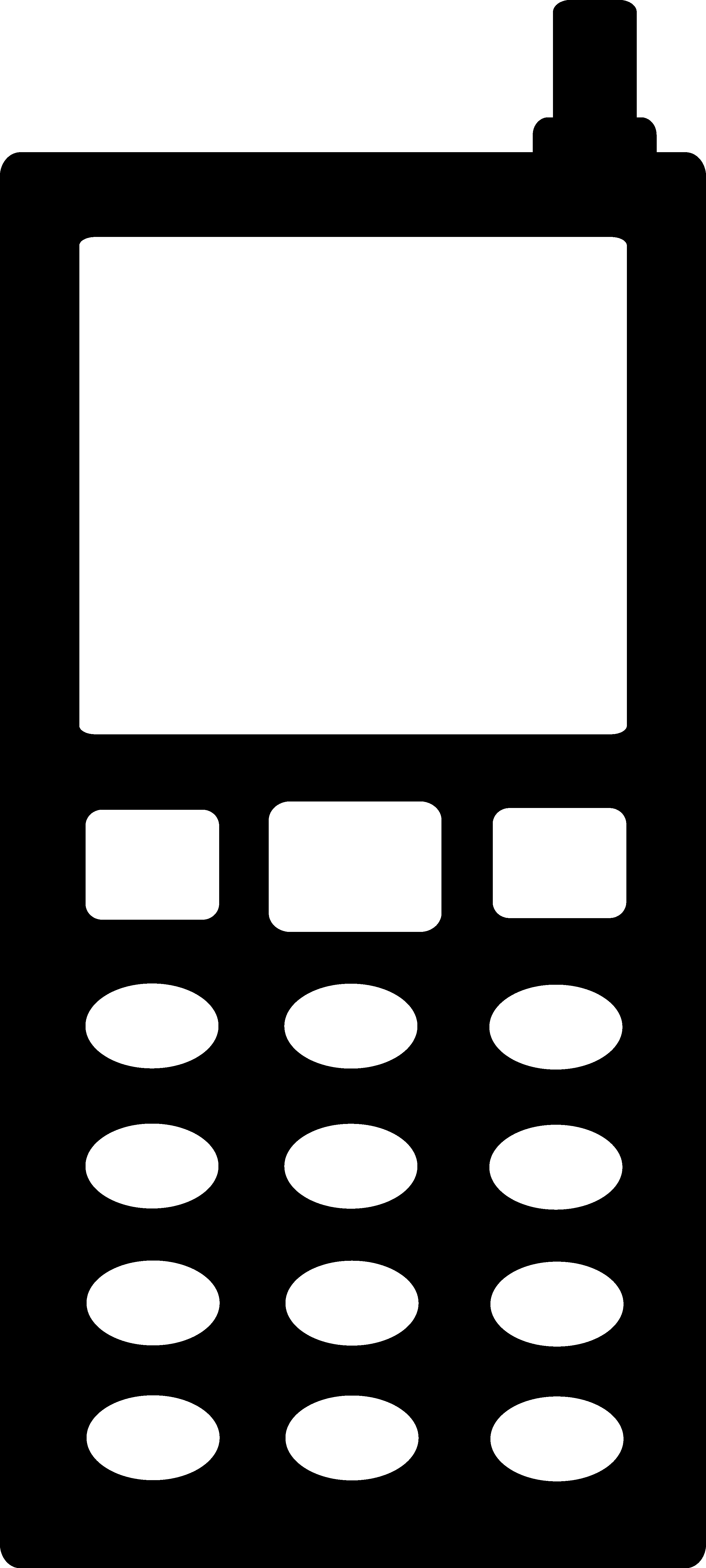 2722x6049 Black Cell Phone Silhouette