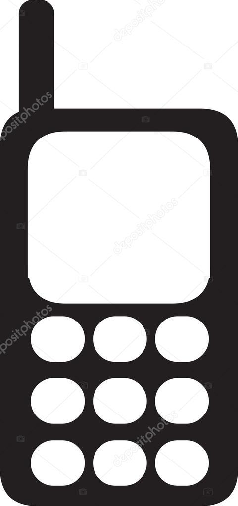 481x1023 Cell Phone Clipart Illustration Stock Vector Kozzi2