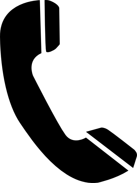444x593 Black Phone Clip Art