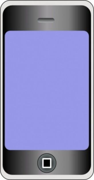 329x626 Cellular Phone Clip Art