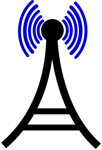 408x600 Broadcasting Tower Clip Art